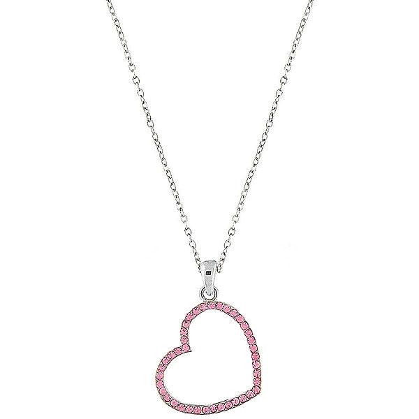 CO-094: Heart necklace with Austrian crystal accent