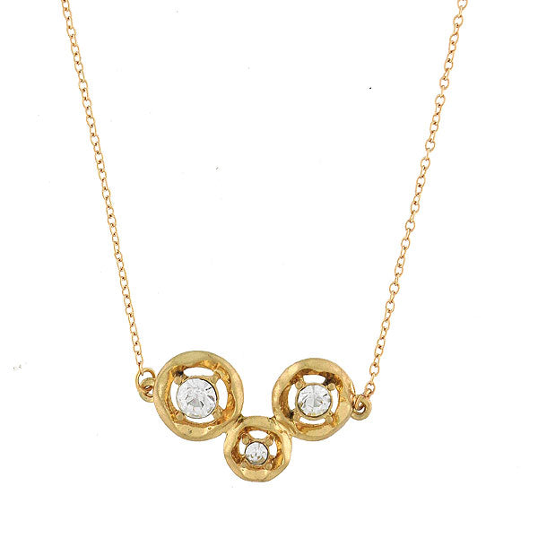 CO-115: Necklace with rhinestone accent