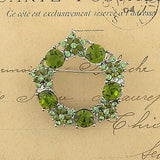 CO-128: Austrian crystal studded garland brooch