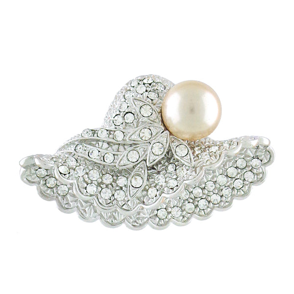 CO-151: Swarovski crystal studded hat brooch