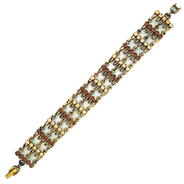 CO-184: Austrian crystal studded bracelet