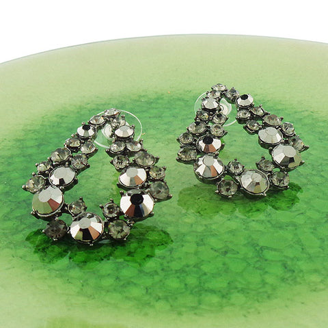 CO-201: Stud earrings with Austrian crystal accents