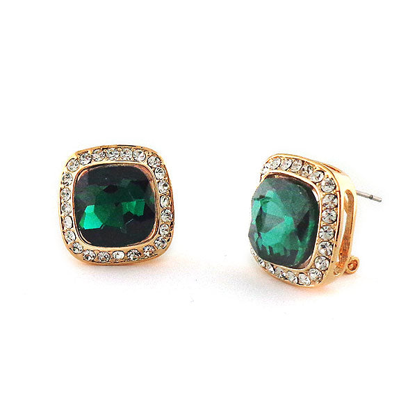 Online shopping for square earrings with rhinestone accents. A great gift for you or your girlfriend, wife, co-worker, friend & family. Wholesale available at www.lavishy.com with many unique & fun fashion accessories.