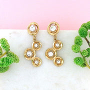 CO-206: Stud earrings with rhinestone