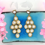 CO-207: Rhinestone studded earrings