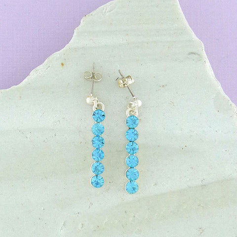 CO-208: Rhinestone studded earrings