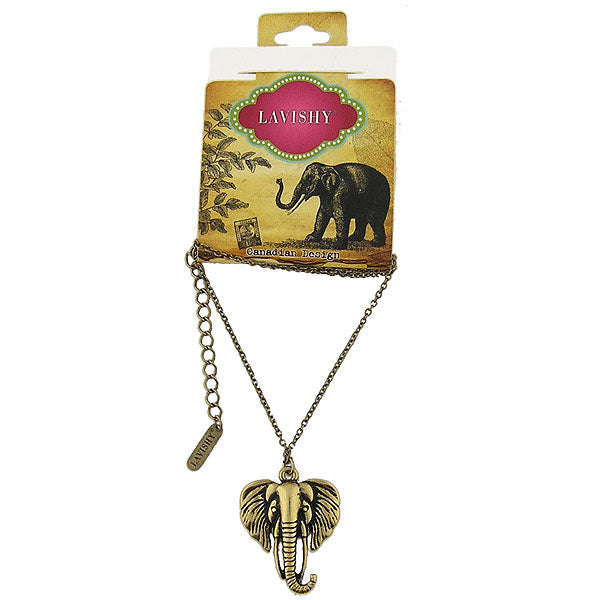 Online shopping for vintage style elephant necklace from Riya collection by PETA approved vegan brand LAVISHY. Great gift for you or your girlfriend, wife, co-worker, friend & family. More fashion accessories for wholesale at www.lavishy.com for gift shop, clothing & fashion accessories boutique, book store since 2001.