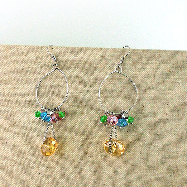 GE004: Handmade earrings with glass beads
