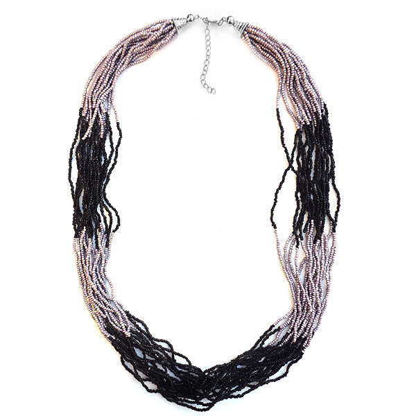 Shop boho chic handmade layered glass beads long necklace by LAVISHY exclusive for LAVISHY Boutique. A great gift for you or your girlfriend, wife, co-worker, friend & family. These are exclusive for LAVISHY Boutique only.