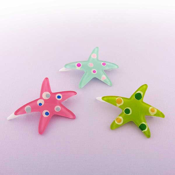 HA050: Starfish resin hair clip
