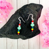Shop chic handmade bohemian style crystal & glass beads earrings by LAVISHY exclusive for LAVISHY Boutique. A great gift for you or your girlfriend, wife, co-worker, friend & family. These are exclusive for LAVISHY Boutique only.