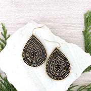 ME037: Boho chic tear drop earrings