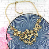Shop boho chic handmade boho chic enamel flower statement bib necklace with rhinestone accent. It will add bohemian vibe to your look & elevate your mood for fresh & positive outlook of life. A great gift for you or your girlfriend, wife, co-worker, friend & family. These are exclusive for LAVISHY Boutique only.