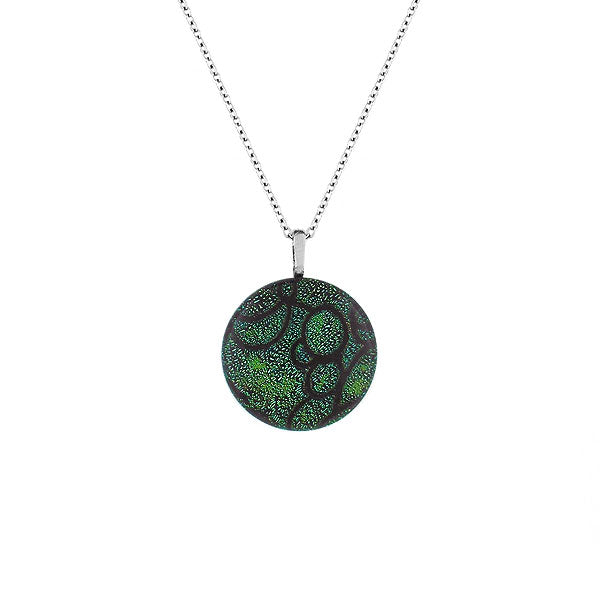 NKG-001: Handmade glass pendant necklace