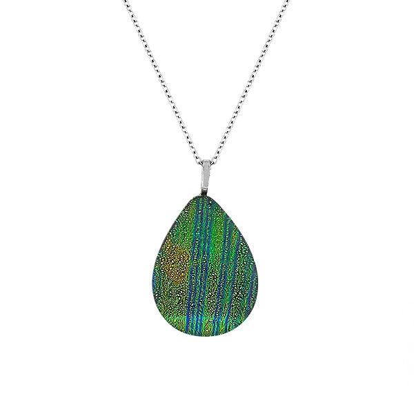 NKG-002: Handmade glass pendant necklace