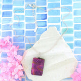 NKG-004: Handmade glass pendant necklace