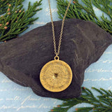NM2004-002: Bohemian style disc pendant necklace
