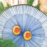 E014: Poppy earrings