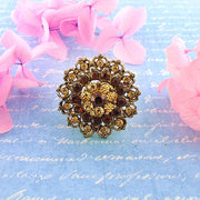 CO-R012: Adjustable ring with Austrian crystal accent