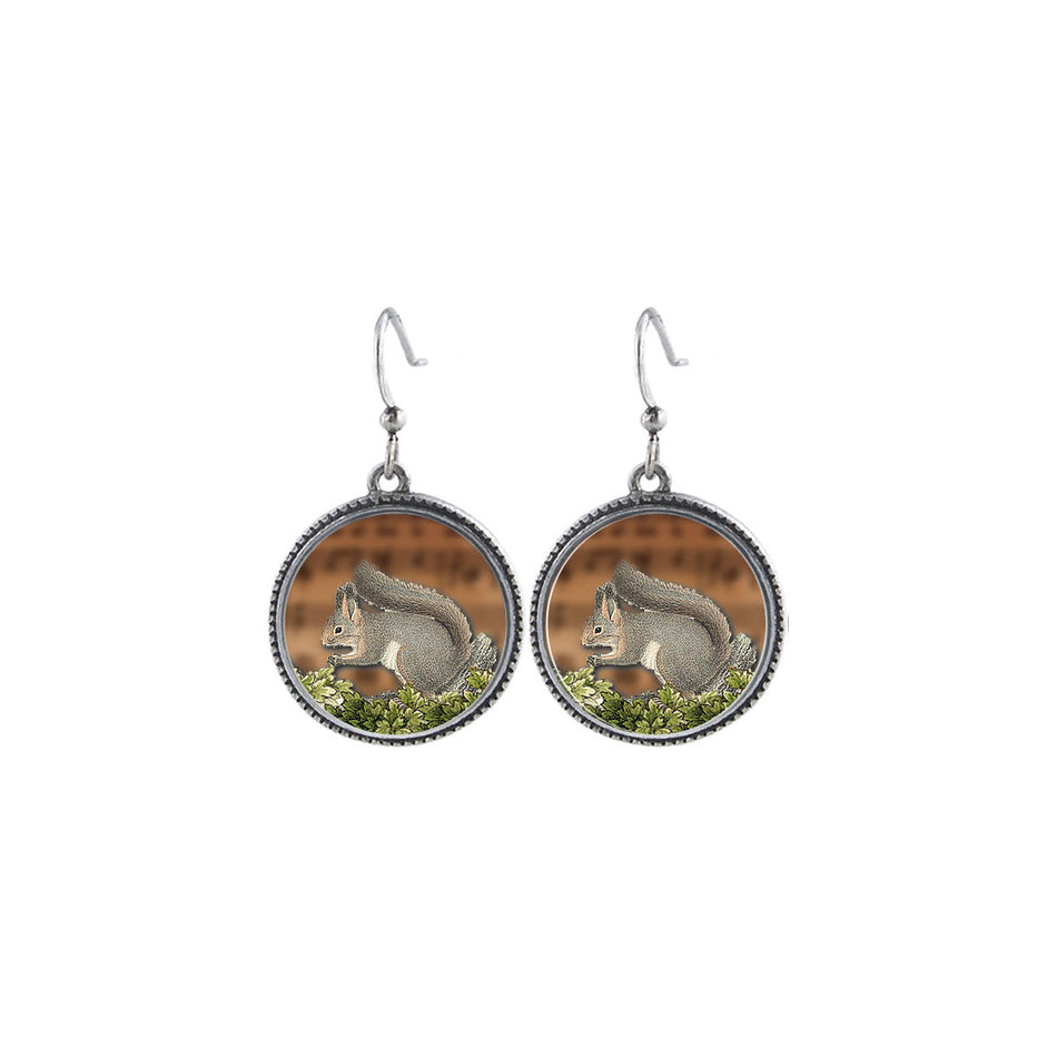 Online shopping for LAVISHY handmade vintage style squirrel earrings. Great gift idea for friends & family. Wholesale at www.lavishy.com to gift shops, clothing & fashion accessories boutiques, book stores in Canada, USA & worldwide.