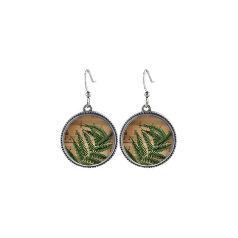 Online shopping for LAVISHY handmade vintage style fern leaf earrings. Great gift idea for friends & family. Wholesale at www.lavishy.com to gift shops, clothing & fashion accessories boutiques, book stores in Canada, USA & worldwide.