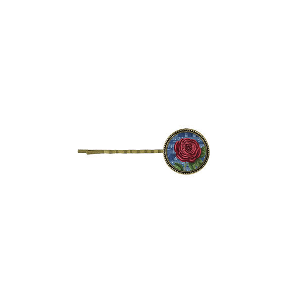 Online shopping for LAVISHY's unique, beautiful & affordable vintage style handmade hair bobby pin with red rose flower print. A great gift for you or your girlfriend, wife, co-worker, friend & family. Wholesale at www.lavishy.com with many unique & fun fashion accessories.