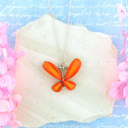 RN030: Resin butterfly pendant necklace