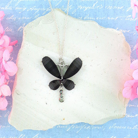 Online shopping for handmade resin butterfly with rhinestone accent pendant necklace. A great gift for you or your girlfriend, wife, co-worker, friend & family. Wholesale at www.lavishy.com with many unique & fun fashion accessories.