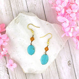 Online shopping for LAVISHY handmade turquoise and crystal beads earrings. A thoughtful gift for you or your friends and family. They come with FREE LAVISHY gift box to make gift giving easy and fun!