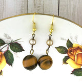 Online shopping for LAVISHY handmade tiger eye stone drop earrings. A thoughtful gift for you or your friends and family. They come with FREE LAVISHY gift box to make gift giving easy and fun!