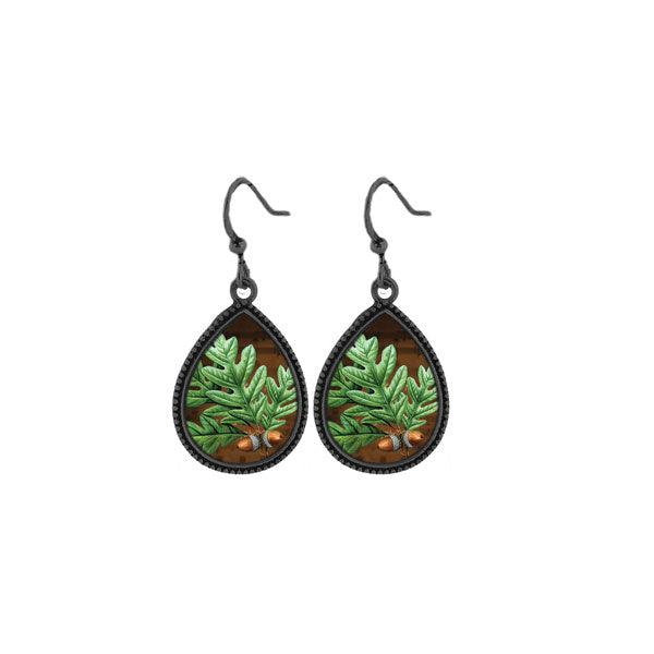 Online shopping for LAVISHY handmade vintage style oak tree leaf earrings. Great gift idea for friends & family. Wholesale at www.lavishy.com to gift shops, clothing & fashion accessories boutiques, book stores in Canada, USA & worldwide.