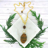 SPN001: Handmade tiger's eye necklace
