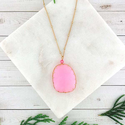 Online shopping for handmade necklaces with semi precious stone or glass pendants designed and handmade by LAVISHY in Toronto Canada. It will add colors to your outfit.