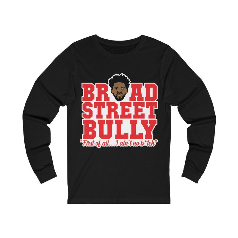 Broad Street Embiid Long-sleeve Printify Black S