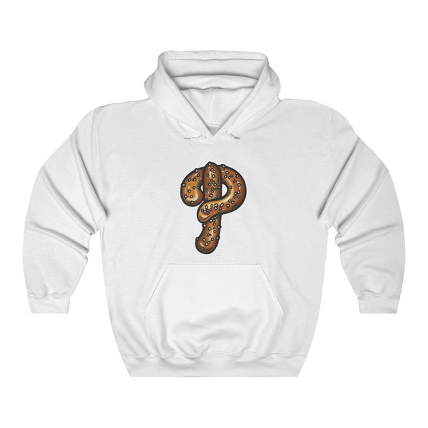 Phillies Pretzel Hooded Sweatshirt Hoodie Printify White S
