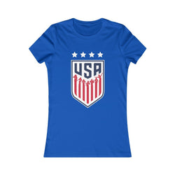 USA Women's Soccer (Woman) T-Shirt Printify True Royal L