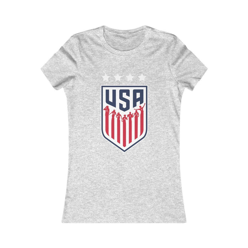 USA Women's Soccer (Woman) T-Shirt Printify Athletic Heather S