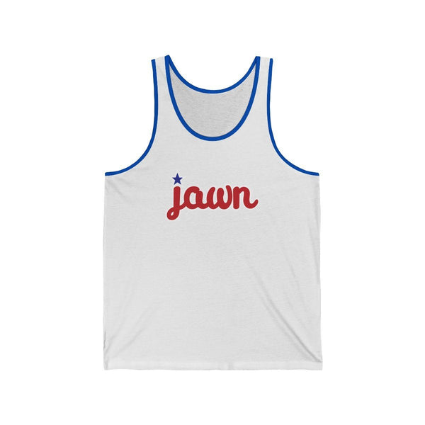 JAWN Tank Tank Top Printify White/True Royal L