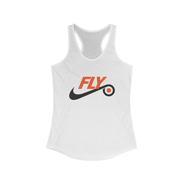 Just Fly Racerback Tank Tank Top Printify Solid White XS