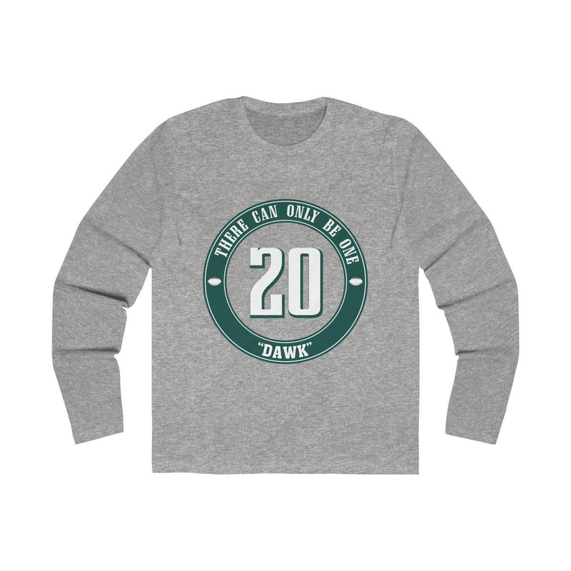DAWK (Long Sleeve) Long-sleeve Printify Solid Heather Grey S
