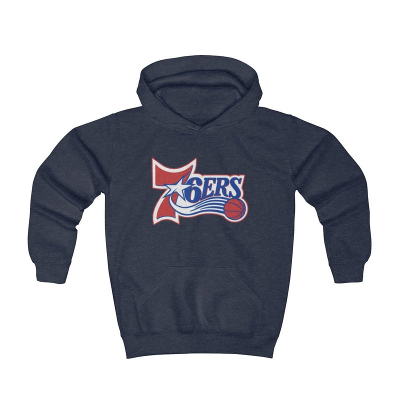 Retro 6ers Hooded Sweatshirt (Youth) Kids clothes Printify Navy Heather S (2-4yr)