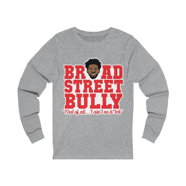 Broad Street Embiid Long-sleeve Printify Athletic Heather L
