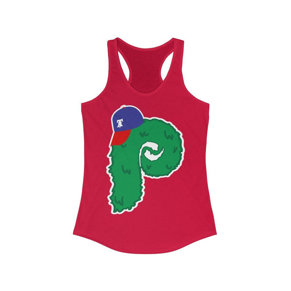 Phanatic Logo Racerback Tank Tank Top Printify Solid Red L