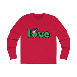 LOVE (Long Sleeve) Long-sleeve Printify Solid Red L