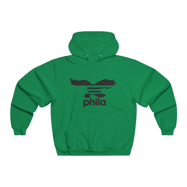 Eagles Stripes Hoodie Hoodie Printify Kelly S