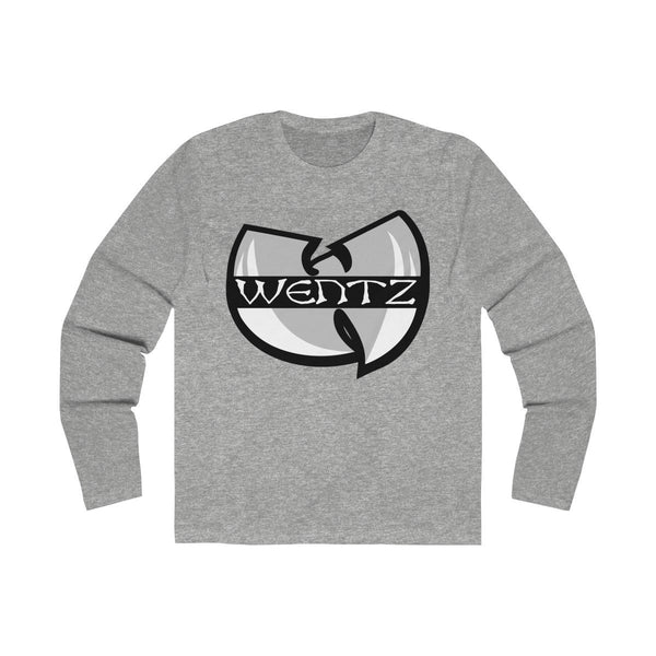 Wu Wentz (Long Sleeve) Long-sleeve Printify Solid Heather Grey L