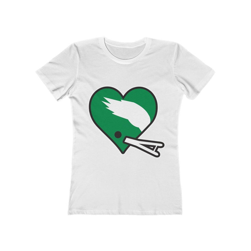 Football Heart (W) T-Shirt Printify Solid White S
