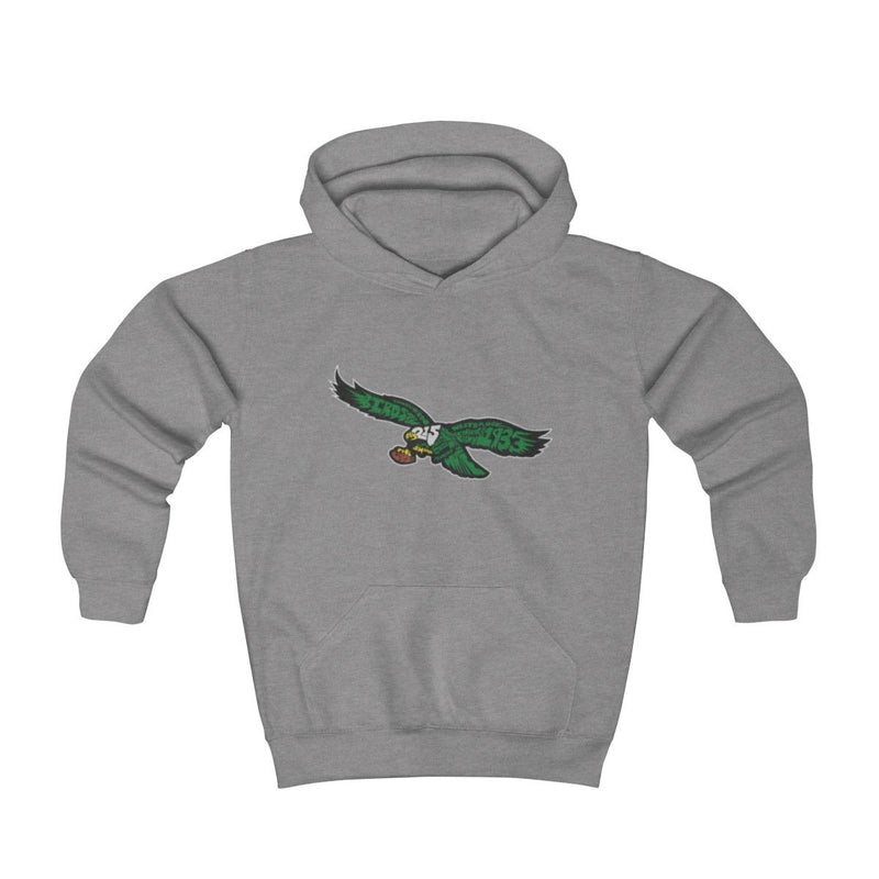 Eagles Words Hoodie (Youth) Kids clothes Printify Athletic Heather L (8-10yr)