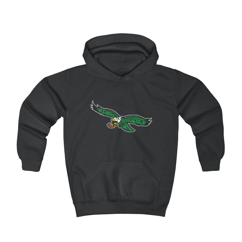 Eagles Words Hoodie (Youth) Kids clothes Printify Black S (2-4yr)