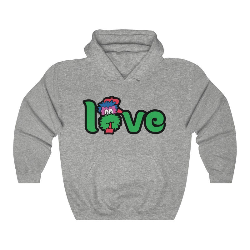 LOVE Hooded Sweatshirt Hoodie Printify Sport Grey S